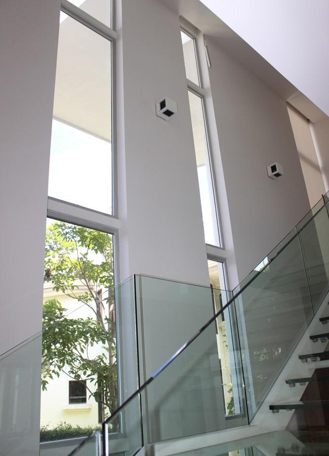 Sistema de vidrios fijos estilo Europa